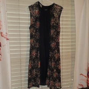 Black lace and floral dress